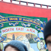 The appearance of the miners of the North-East was greeted with cheers and a claps.