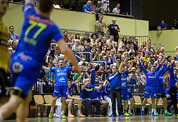 Branko Tamse, head coach of Celje PL and other players  celebrate  during handball match between RK Gorenje Velenje and RK Celje Pivovarna Lasko in Final match of 1st NLB League - Slovenian Championship 2013/14 on May 23, 2014 in Rdeca dvorana, Velenje, Slovenia. RK Celje Pivovarna Lasko became 18-times Slovenian National Champion. Photo by Vid Ponikvar / Sportida