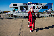 Freda Green from Slidell Louisiana at  Republican presidential candidate Donald Trump's campaign rally in New Orleans. <br /> The New Orleans rally on Friday, March 4, 2016 at Lakefront Airport took place a day before the primary vote.
