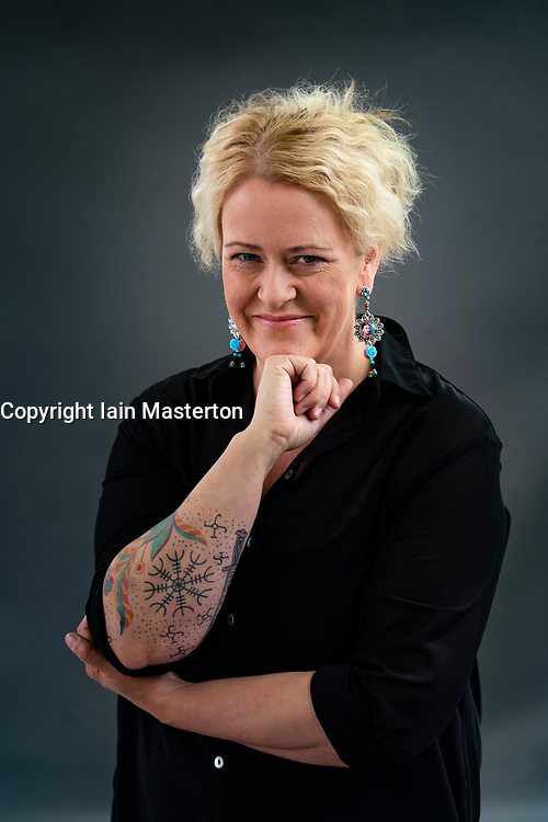 Edinburgh, Scotland, UK. 23 August 2019. Lilja Sigurdaróttir.Crim writer Lilja Sigurdarottir's new book, Trap is the second entry in Sigurdaróttir's Reykjavik Noir trilogy . Iain Masterton/Alamy Live News.