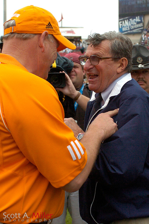 Jan. 1, 2007; Tampa, FL, USA; Penn State Nittany Lions coach Joe Paterno prior to the Outback Bowl against the Tennessee Volunteers at Raymond James Stadium. © 2007 by Scott A. Miller