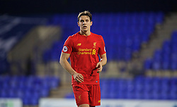 BIRKENHEAD, ENGLAND - Wednesday, November 2, 2016: Liverpool's Jordan Williams in action against FC Porto during the Premier League International Cup match at Prenton Park. (Pic by David Rawcliffe/Propaganda)