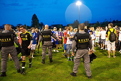 ZUG, SWITZERLAND - Wednesday, July 21, 2010: Liverpool's Jack Robinson walks off the pitch after the Reds' first preseason match of the 2010/2011 season against Grasshopper Club Zurich at the Herti Stadium. (Pic by David Rawcliffe/Propaganda)