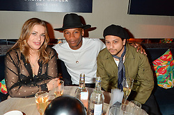 Left to right, WILLA KESWICK, ERIC UNDERWOOD and ELLIOTT POWER at the Fashion Targets Breast Cancer 20th Anniversary Party held at 100 Wardour Street, Soho, London on 12th April 2016.