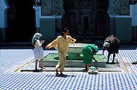 Maroc - Fès - Les souks de Fès el Bali - La Medina - Mosquée Karaouiyne