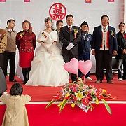 Bride, groom and families, Namasiya Township, Kaoshiung County, Taiwan