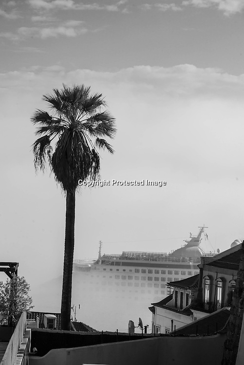 Portugal. Lisbon. Elevated view on Alfama district
