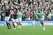 Scott Sinclair  scoring goal  during the Betfred Semi-Final Cup match between Heart of Midlothian and Celtic at Murrayfield, Edinburgh, Scotland on 28 October 2018.