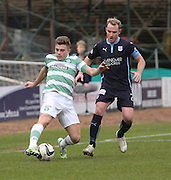 Dundee's Gary Irvine keeps a close watch on Celtic&rsquo;s James Forrest - Dundee v Celtic, William Hill Scottish Cup fifth round at Dens Park <br /> <br /> <br />  - &copy; David Young - www.davidyoungphoto.co.uk - email: davidyoungphoto@gmail.com