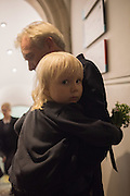 MICHAEL BIRT; ZAZIE BIRT;  Private view of the Taylor Wessing Portrait prize, National Portrait Gallery, London.  15 November 2016