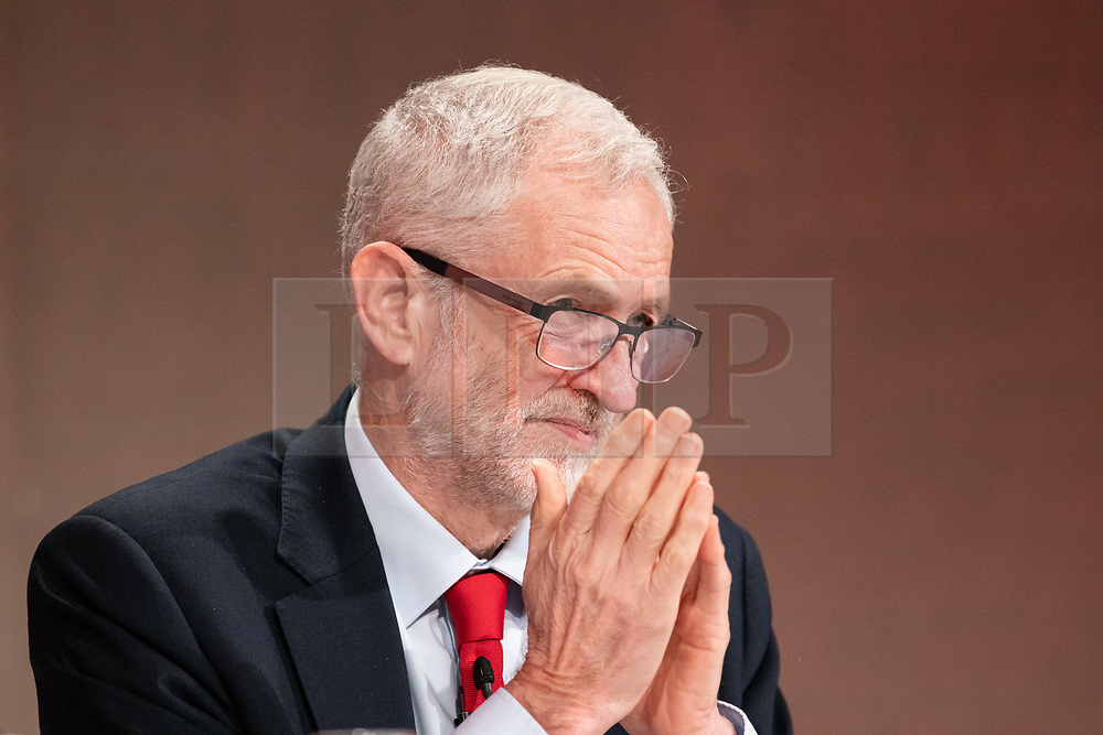 © Licensed to London News Pictures. 23/02/2019. Telford, UK. Labour leader Jeremy Corbyn addressing the Labour Party Women's Conference in Telford. Photo credit: Dave Warren/LNP