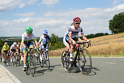 Ashleigh Moolman Pasio (Cervélo Bigla) leads the chase of the solo escapee at Thüringen Rundfarht 2016 - Stage 5 a 99km road race starting and finishing in Greiz, Germany on 19th July 2016.