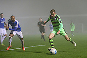 Forest Green Rovers Elliott Frear(11) crosses the ball during the Vanarama National League match between Forest Green Rovers and Dover Athletic at the New Lawn, Forest Green, United Kingdom on 17 December 2016. Photo by Shane Healey.