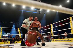 Ukrainian boxer Vitali Klitschko defeats challenger Juan Carlos Gomez of Cuba in their WBC heavyweight title fight on March 21, 2009 at the Hanns-Martin-Schleyer-Halle in Stuttgart, southern Germany.