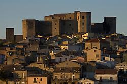 Melfi, Basilicata, Italy - Landscape with the castle an town of Melfi (PZ)