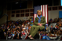 U.S. Democratic presidential nominee Hillary Clinton speaks to an overflow crowd after a rally in Commerce City, Colorado August 3, 2016. REUTERS/Rick Wilking