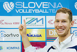 Tine Urnaut during press conference of Slovenia Volleyball Team before European Qualification tournament in Nis / Serbia for 2014 FIVB World Championship on December 27, 2013 in M Hotel, Ljubljana, Slovenia.  Photo by Vid Ponikvar / Sportida