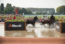 Gerts Schrijvers, (BEL), El Fiero, Giganta A, Onyx, Replay, Victor K - Driving Marathon - Alltech FEI World Equestrian Games™ 2014 - Normandy, France.<br /> © Hippo Foto Team - Dirk Caremans<br /> 06/09/14