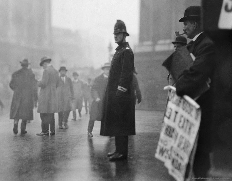 Traffic Policeman, London, 1918