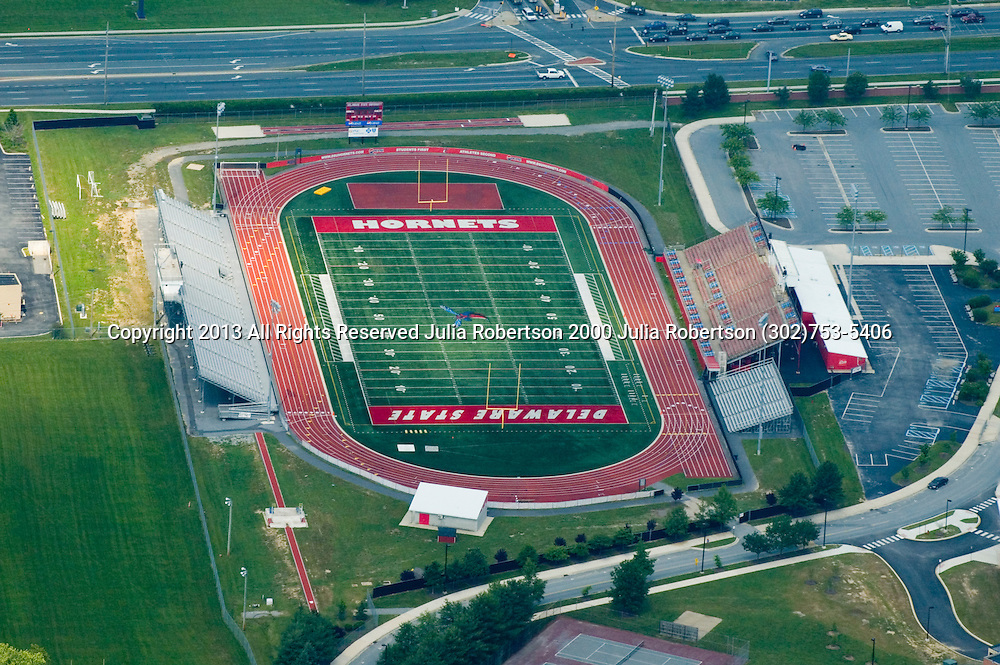 Aerial views of the Delaware Valley area. Aerial view of Delaware State University home of the Hornets