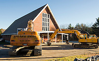 St Helena's Church off 11B stands to be demolished.  (Karen Bobotas/for the Laconia Daily Sun)