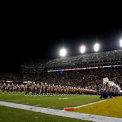 November 10, 2012; Baton Rouge, LA, USA; A general view as the band performs prior to kickoff of a game against the Mississippi State Bulldogs at Tiger Stadium.  LSU defeated Mississippi State 37-17. Mandatory Credit: Derick E. Hingle-US PRESSWIRE
