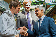 The Mayor Sadiq Khan meets stall holders - The market reopening is signified by the ringing of the bell and is attended by Mayor Sadiq Khan. Tourists and locals soon flood back to bring the area back to life.