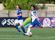 Natalie Gutteridge (Durham Womens FC) in action during the FA Women's Super League match between Durham Women FC and Everton Ladies at New Ferens Park, Belmont, United Kingdom on 30 August 2015. Photo by George Ledger.