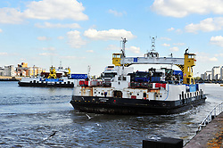 © Licensed to London News Pictures. 25/09/2018<br /> WOOLWICH, UK.<br /> Woolwich ferry service to close in two weeks.<br /> The Woolwich ferry service in Woolwich will stop operating from Saturday 6th October until the end of the year to allow new berths to be constructed. The new berths will be for new boats which will restart the ferry service from January 2019.<br /> Photo credit: Grant Falvey/LNP