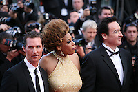 Matthew Mcconaughey, Macy Gray, John Cusack,  at The Paperboy gala screening red carpet at the 65th Cannes Film Festival France. Thursday 24th May 2012 in Cannes Film Festival, France.