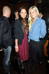 "Left to right, FRAN HICKMAN and OLYMPIA SCARRY at a party and exclusive private view of 'Naked Portrait With Reflection"" by Lucian Freud hosted by Christie's held at 17 Berkeley Street, London on 17th June 2008.<br />