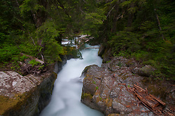 Deer Creek Falls, Mt. Rainier National Park, Washington, US