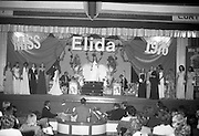"""Miss Elida"" Final At Mosney, Co Meath..1976..01.09.1976..09.01.1976..1st September 1976..The final of the ""Miss Elida"" lovely hair competition was held in The Gaiety Theatre,Butlins Holiday Centre,Mosney,Co Meath tonight. The competition is sponsored by Lever Bros,Sheriff St,Dublin. The shows compere was Mr Mike Murphy..Image shows the contestants taking their place on the stage of the Gaiety Theatre..Image shows the contestants taking their place on the stage of the Gaiety Theatre."