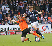 Dundee United's Paul Dixon tackles Dundee's Greg Stewart - Dundee United v Dundee at Tannadice Park in the SPFL Premiership<br /> <br />  - © David Young - www.davidyoungphoto.co.uk - email: davidyoungphoto@gmail.com