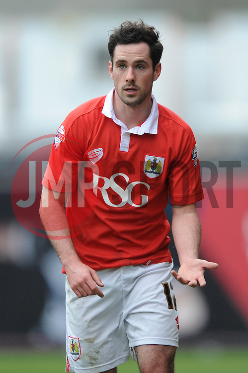 Bristol City's Greg Cunningham - Photo mandatory by-line: Dougie Allward/JMP - Mobile: 07966 386802 - 28/02/2015 - SPORT - football - Bristol - Ashton Gate - Bristol City v Rochdale AFC - Sky Bet League One