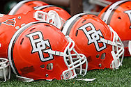 October 3, 2009:  Bowling Green helmets during the NCAA footbal game game between Ohio Bobcats and BGSU Falcons atDoylt Perry Stadium in Bowling Green, Ohio