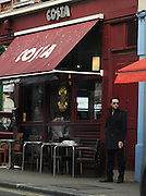 19.OCTOBER.2010. LONDON<br /> <br /> ANTHONY COSTA STANDING OUTSIDE COSTA COFFE IN SOHO.<br /> <br /> BYLINE: EDBIMAGEARCHIVE.COM<br /> <br /> *THIS IMAGE IS STRICTLY FOR UK NEWSPAPERS AND MAGAZINES ONLY*<br /> *FOR WORLD WIDE SALES AND WEB USE PLEASE CONTACT EDBIMAGEARCHIVE - 0208 954 5968*