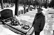 """Powazki Military Cemetery, Warsaw. The tomb of the poet Krysztof Kamil Baczynski, member of the """"Parasol Battalion"""", killed at the age of 23 during the 4th day of the 1944 Warsaw Uprising."""