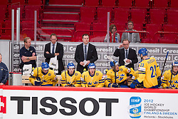 05.05.2012, Ericsson Globe, Stockholm, SWE, IIHF, Eishockey WM, Schweden (SWE) vs Tschechische Republik (CZE), im Bild, Sverige Sweden tränare Head coach Pär Mårts // during the IIHF Icehockey World Championship Game between Sweden (SWE) and Czech Republic (CZE) at the Ericsson Globe, Stockholm, Sweden on 2012/05/05. EXPA Pictures © 2012, PhotoCredit: EXPA/ PicAgency Skycam/ Sami Grahn..***** ATTENTION - OUT OF SWE *****