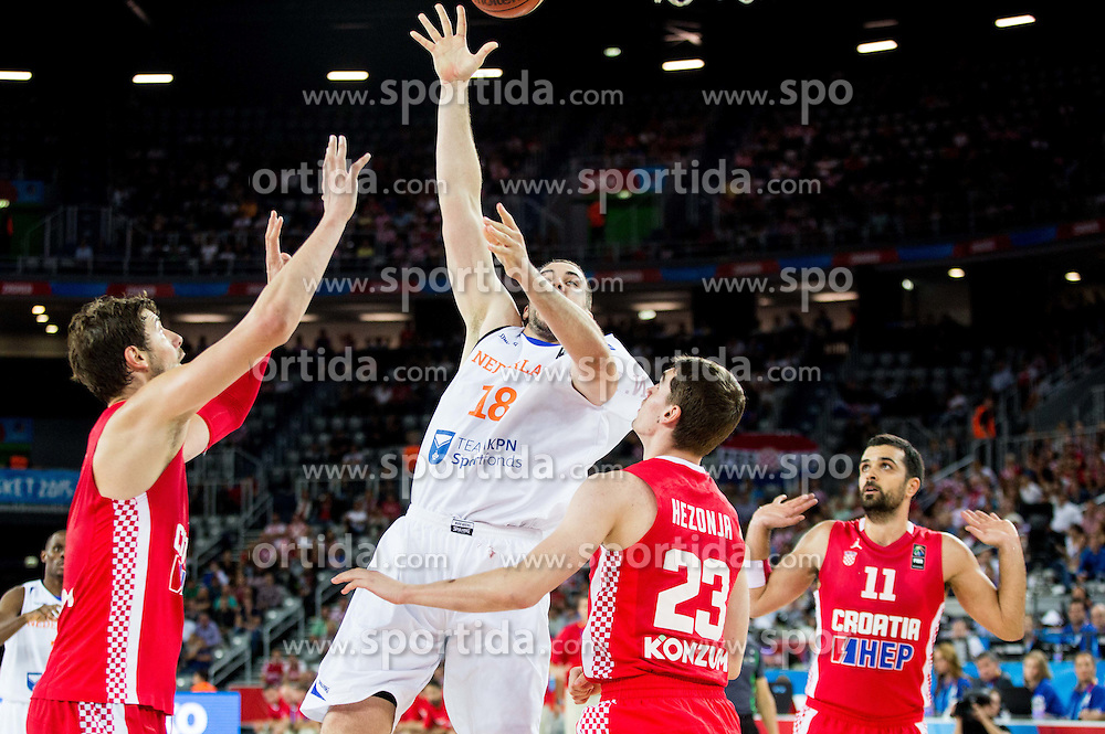 Nicolas de Jong of Netherlands during basketball match between Netherlands and Croatia at Day 5 in Group C of FIBA Europe Eurobasket 2015, on September 9, 2015, in Arena Zagreb, Croatia. Photo by Vid Ponikvar / Sportida