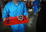 "PUTIAN, CHINA - FEBRUARY 20: <br /> <br /> Mans back Beaten With Thorny Iron Ball during Ceremony <br /> <br /> Villagers in Putian hold the ""Da Tie Qiu\"" event on Feb 24 in lunar calendar to commemorate Qi Jiguang, a national hero in Ming dynasty. During the event, selected unmarried men baring their upper bodies and feet sit on the knife-made palanquins and beat their backs with thorny iron balls. Beating back with an iron ball stuck with 360 steel nails is said to encourage men to guard the safety of their home and country.<br /> ©Exclusivepix Media"