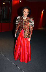 "LADY NEWALL at the 10th annual British Red Cross London Ball.  This years ball theme was Indian based - ""Yaksha - Yakshi: Doorkeepers to the Divine"" and was held at The Room, Upper Ground, London on 1st December 2004.  Proceeds from the ball will aid vital humanitarian work, including HIV/AIDS projects that the Red Cross supports in the UK and overseas.<br />