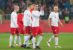 March 27, 2018 - Chorzow, Poland - Arkadiusz Milik of Poland  during the international friendly soccer match between Poland and South Korea national football teams, at the Silesian Stadium in Chorzow, Poland on 27 March 2018. (Credit Image: © Foto Olimpik/NurPhoto via ZUMA Press)