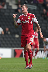 Bristol City's Aden Flint   - Photo mandatory by-line: Nigel Pitts-Drake/JMP - Tel: Mobile: 07966 386802 24/08/2013 - SPORT - FOOTBALL - Stadium MK - Milton Keynes - Milton Keynes Dons V Bristol City - Sky Bet League One
