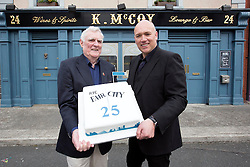 Repro Free: 15/09/2014 <br /> The two longest members of the Fair City Cast Tom Jordan (Charlie Kelly) and Tony Tormey (Paul Brennan)  are pictured on the set of Fair City to celebrate its 25th anniversary and pay tribute to Ireland&rsquo;s most popular and longest running soap. Picture Andres Poveda