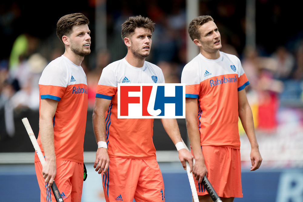 BREDA - Rabobank Hockey Champions Trophy<br /> The Netherlands - Belgium<br /> Photo: Lars Balk, Robbert Kemperman and Jonas de Geus.<br /> COPYRIGHT WORLDSPORTPICS FRANK UIJLENBROEK