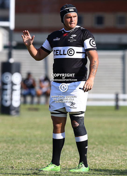 Marco Palvie of the Cell C Sharks Under 21's during The Cell C Shark 21's and Leopards  21's Currie Cup at Growthpoint Kings Park KP2 in Durban, South Africa. 8th September  2017 (Photo by ( Steve Haag Sports)