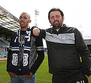 New Dundee forward Phil Roberts with Dundee manager Paul Hartley at Dens Park<br /> <br />  - &copy; David Young - www.davidyoungphoto.co.uk - email: davidyoungphoto@gmail.com