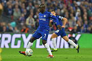 Ngolo Kante (7) of Chelsea during the Carabao Cup Final match between Chelsea and Manchester City at Wembley Stadium, London, England on 24 February 2019.