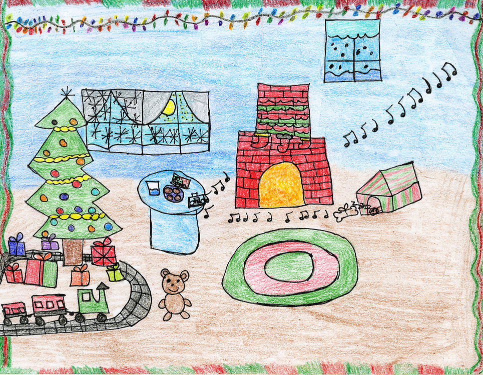 Holiday card designed by Ana Rios of Briscoe Elementary School.